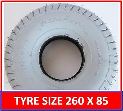 """Mobility Scooter Tyre 260 x 85 (3.00 x 4"""") Buggy Tyre Grey FREE POSTAGE 4"""" Tyre"""