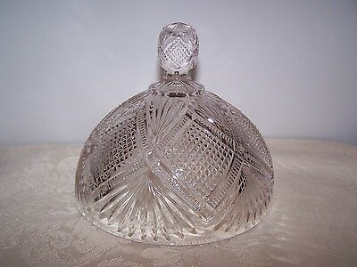 Grated Diamond And Sunburst Pressed Glass Butter Dish Cover / Lid - '1895'