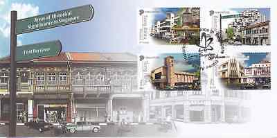 SINGAPORE - 2012 - FDC: Areas of Historical Significance. 4v