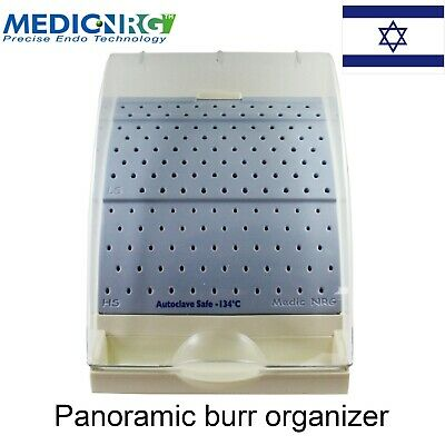 Dental Endodontic Autoclave Safe Case Plastic Organaizer Stand Drills And Burs