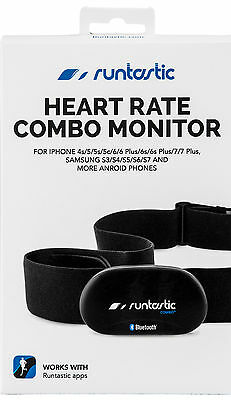 RUNTASTIC RUNBT1  Bluetooth Heart Rate Monitor Combo + app - New 2017 Packaging