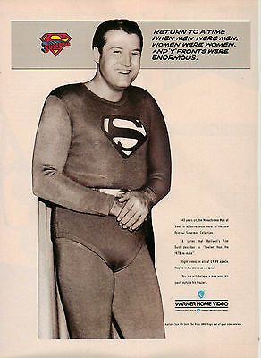 A4 Advert for the Video Release of Superman George Reeves