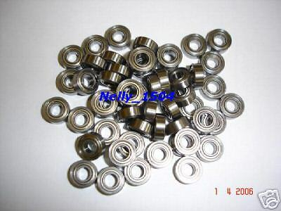 POWER  10Stk. Kugellager 3x6x2,5mm OFFEN mit Bund f. Slot-Racing etc.