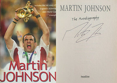 Martin Johnson Signed 'the Autobiography' Rugby Book
