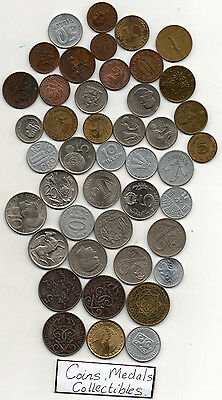 world mixed coins Sweden Germany Austria Various countries large &  small coins