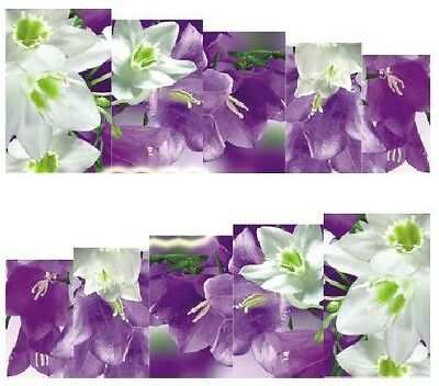 Nail Art Decals Transfers Stickers Pretty Flowers (A-866)