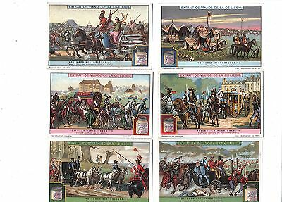 Historical Vehicles.Liebig set F1185.Issued 1926.Full set of 6.