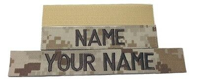 Desert Marpat Custom US Marines Name Tape,  with Fastener or Sew-On, Military