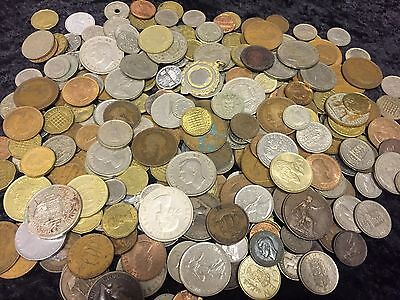1.6KG Coin collection ,unsorted GB&World coins See Pictures