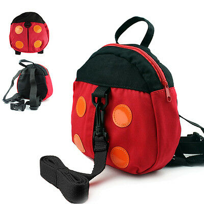 Baby Kid Toddler Safety Harness Ladybug Backpack Anti-lost Walking Strap Bag