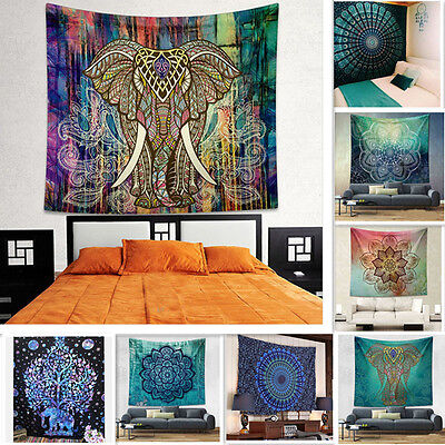 Mandala Tapestry Bohemian Wall Hanging Hippie Throw Indian Dorm Bedspread Decor