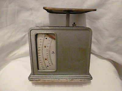 Waage Briefwaage ARCA 1000 antik mechanisch Blechgehäuse antique office scale