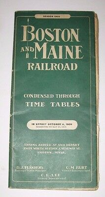 1910 Boston & Maine Railroad Condensed Through Time Tables Advertising 74 Pages