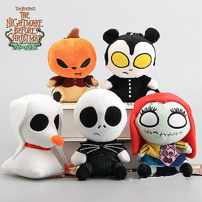 KETNET Nightmare Before Christmas Jack Skellington Sally Vampire Plush Doll NWT