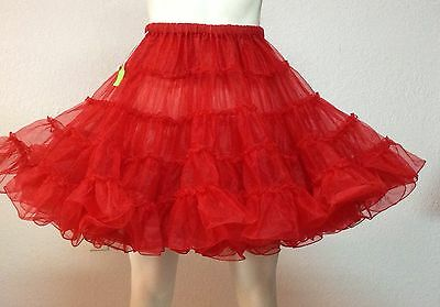 Red Organdy Petticoat By Eva's Petticosts