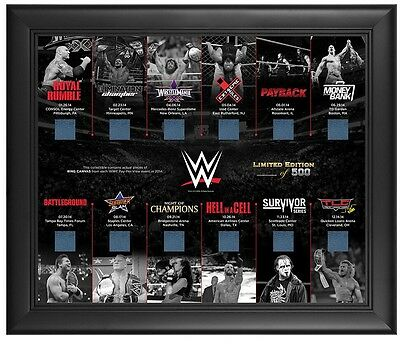 NEW WWE 2014 Pay Per View Ring Canvas Commemorative Plaque-in Original Packaging