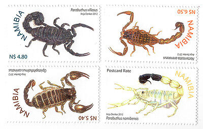 Stamps Namibia Scorpions (2012) - MNH