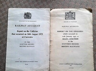 Lot of 12 x Accident Reports and Statistics Books 1950s and 1980s