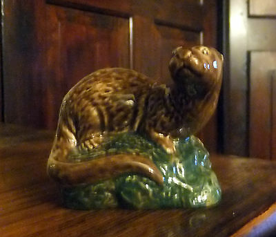 Vintage Beswick small Otter  Beneagles Scotch Whisky 1981  Empty