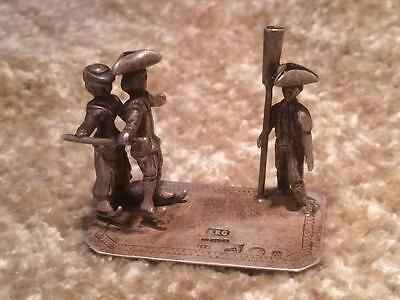 Antique Dutch Silver Miniature Go-To-Bed ICE SKATING Figure Hallmarked 1910
