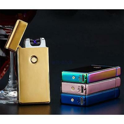 USB Rechargeable Dual Arc Electric Lighter Flameless/Windproof Plasma Torch