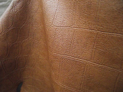 Lamb Nappa leather Hide, embossed Reptile look, Crocodile, Leather,