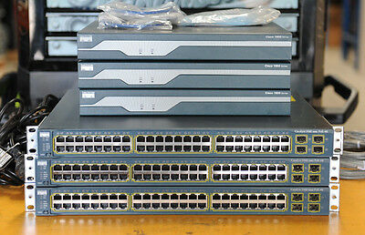 CISCO CCNA CCNP CCIE Lab w/ Cisco 2811 IOS 15(128/256), WS-C3560-48PS-S, WIC-2T