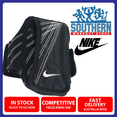 Nike Lightweight Running Arm Band Wallet Carry Case Sports Fitness Black Swoosh