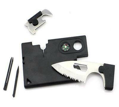 Multi Tool Credit Card Size Kit Functional Knife 9 in 1 Knife Survival Camping