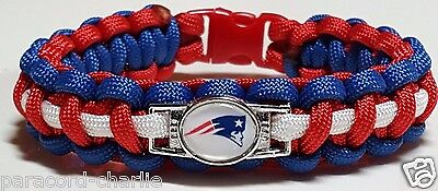 New England Patriots Red, White, & Blue Handmade Custom Sized Paracord Bracelet