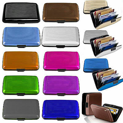 Business ID Credit Card Pocket Wallet Holder Aluminum Metal RFID Case Cover Sale