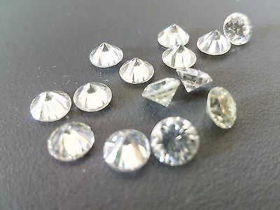 Next to White 2.74 carat 3.00*3.50 mm Beautiful round cut Synthetic Moissanite