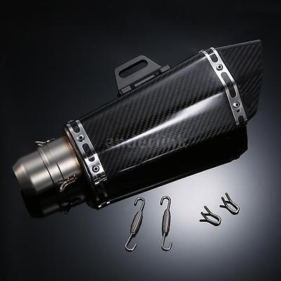 51mm Carbon Fiber Refit Exhaust Muffler Pipe For Motorcycle ATV Universal W4I9