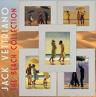 The Beach Collection II Jack Vettriano Set of Five Mounted Prints Genuine 2017©