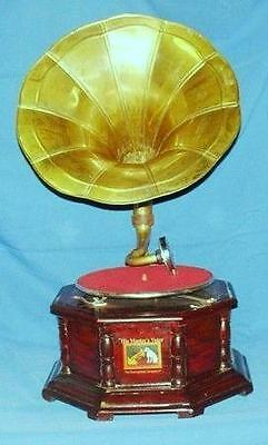 A Great Collectable Hmv Master Voice  Wind Up Octagonal Gramophone