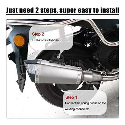 51mm Universal Motorcycle ATV Exhaust Pipe Muffler With Carbon Fiber Tail K7X5