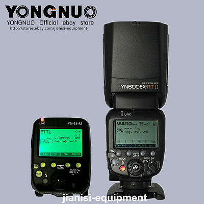 YONGNUO ttl hss Flash speedlite YN600EX-RT II / YNE3-RT flash trigger  For Canon