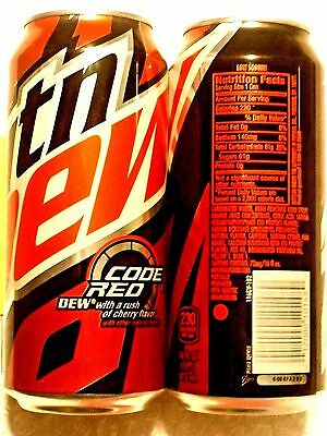 2016 FULL MTN MOUNTAIN DEW CODE RED 16oz CAN