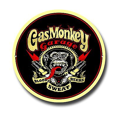 Gas Monkey Metal Sign, Oil, Tv , Grease Monkey,cars, Gas Monkey Garage,wall Sign