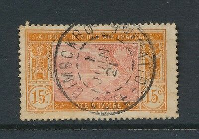 FRENCH IVORY COAST DIMBOKRO CANCEL 1921 on 15c