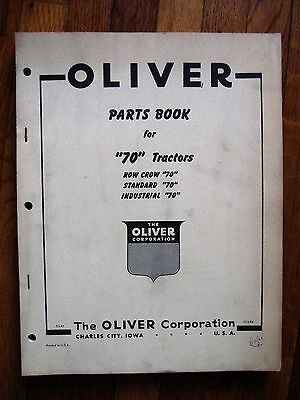 Oliver 70 Row Crop Standard Industrial Tractor Parts Catalog