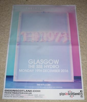 The 1975 CONCERT POSTER - dec 2016 UK live music show gig tour poster