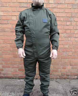 French Army Coveralls / Overalls NEW Green Work Boiler Suit Green Velcro Front