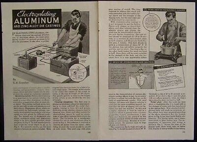 Electroplating Aluminum & Zinc Small Shop 1941 How-To INFO & PLANS