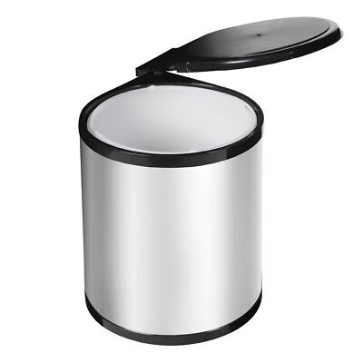 Auto Swing Out Lid Bin Stainless Steel 14L Kitchen Garbage Rubbish Waste Can AU