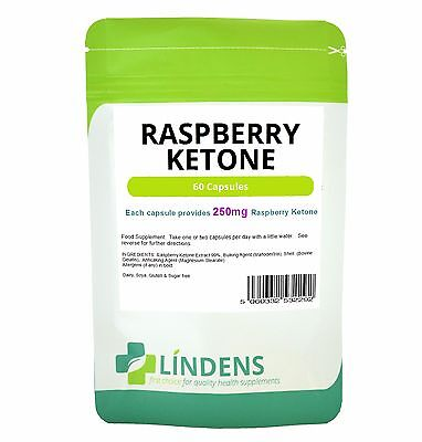 Raspberry Ketone 250mg Capsules 60 Pack Lindens Health Diet Weight Loss