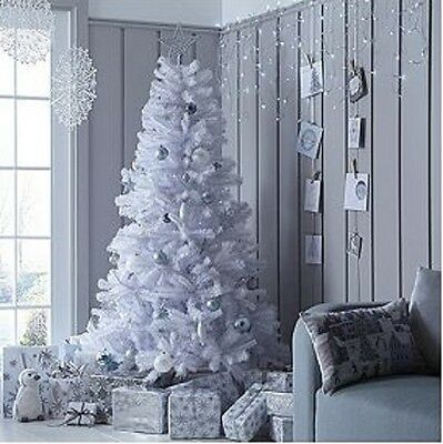 6ft White Regal Fir Premier Christmas Tree with Metal Stand