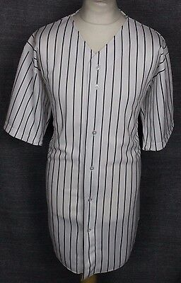 Vintage Pinstripe Baseball Jersey Shirt Mens Xl Fox Athletic