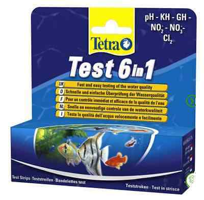 TetraTest 6 In 1 Water Test Economy Pack 2 x 25 Strips Aquarium Fish Tank PH New