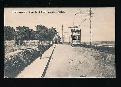 Ireland DUBLIN Tram #304 Howth at Dollymount c1900/20s? PPC by P J Curran
